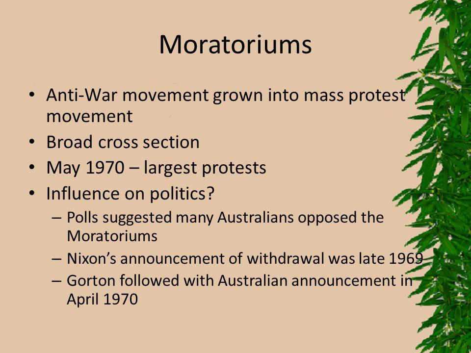 Moratoriums Anti-War movement grown into mass protest movement