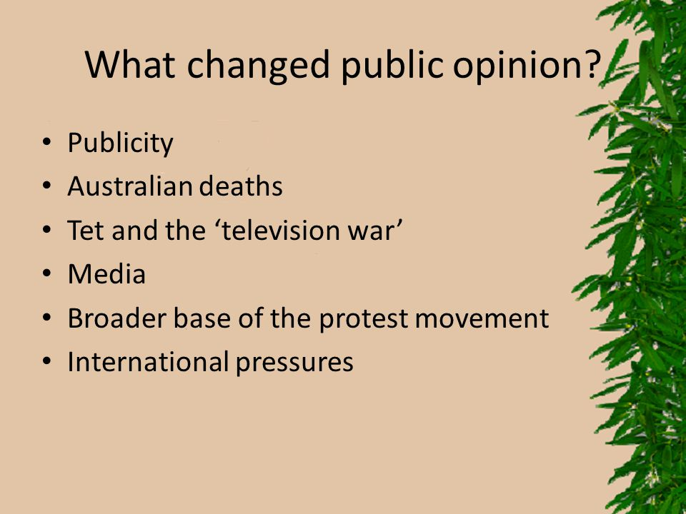 What changed public opinion