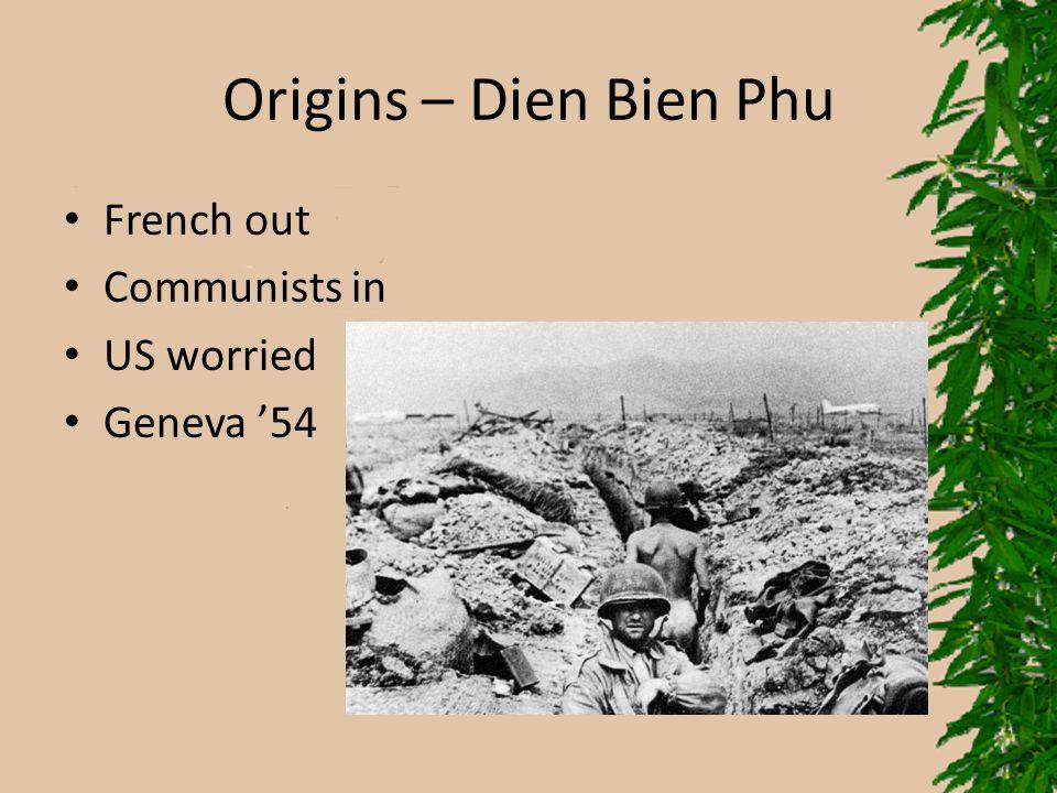 Origins – Dien Bien Phu French out Communists in US worried Geneva '54