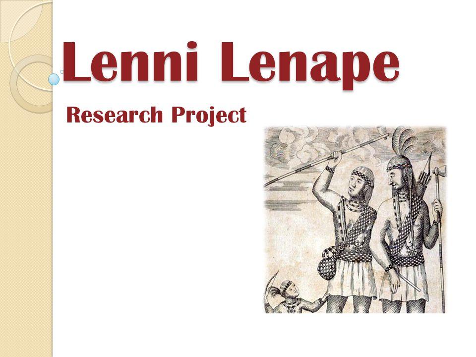Lenni Lenape Research Project