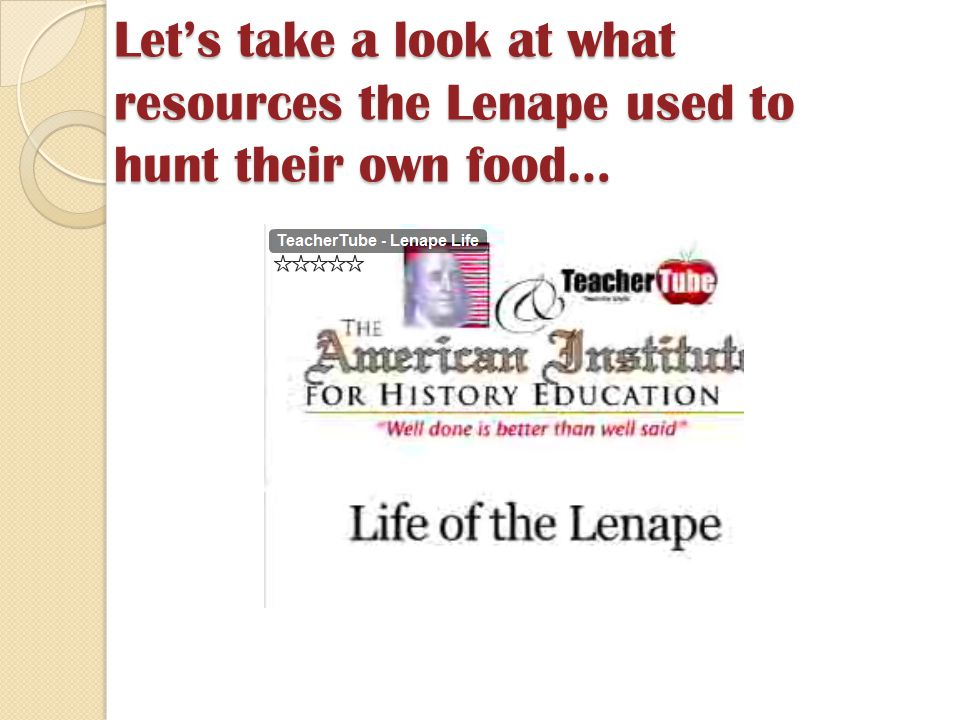 Let's take a look at what resources the Lenape used to hunt their own food…