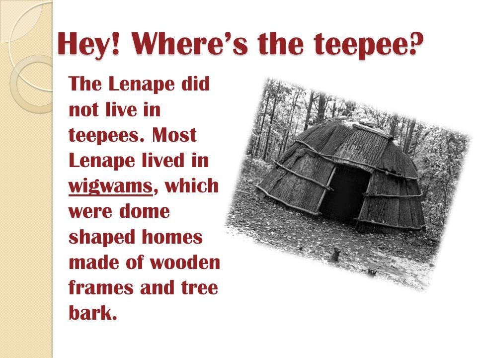 Hey! Where's the teepee