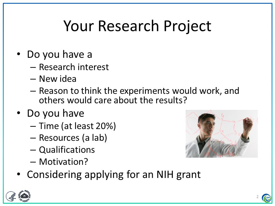 Your Research Project Do you have a Do you have