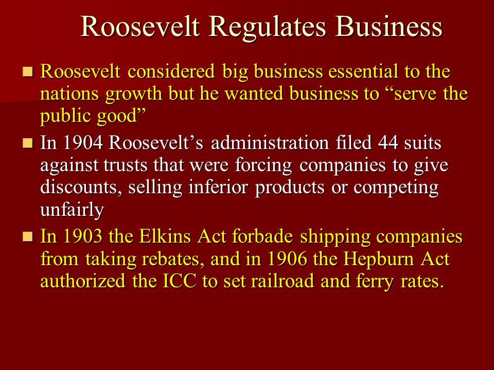 Roosevelt Regulates Business