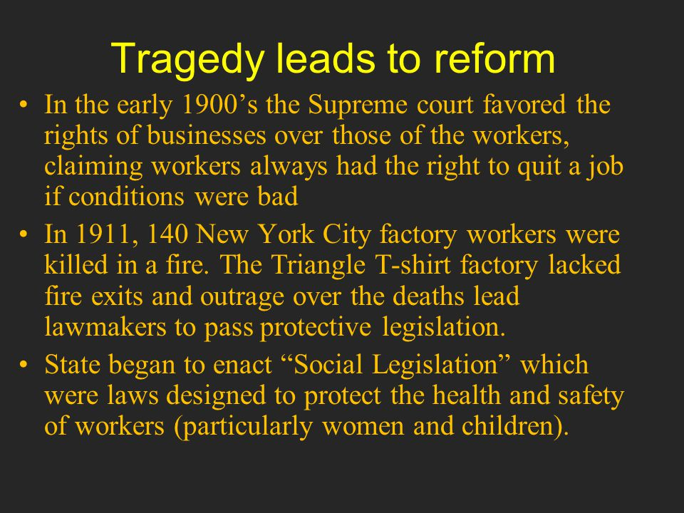 Tragedy leads to reform