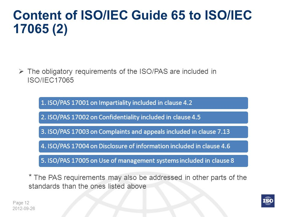 Content of ISO/IEC Guide 65 to ISO/IEC 17065 (2)