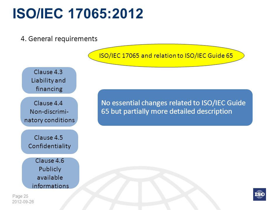 ISO/IEC 17065:2012 4. General requirements