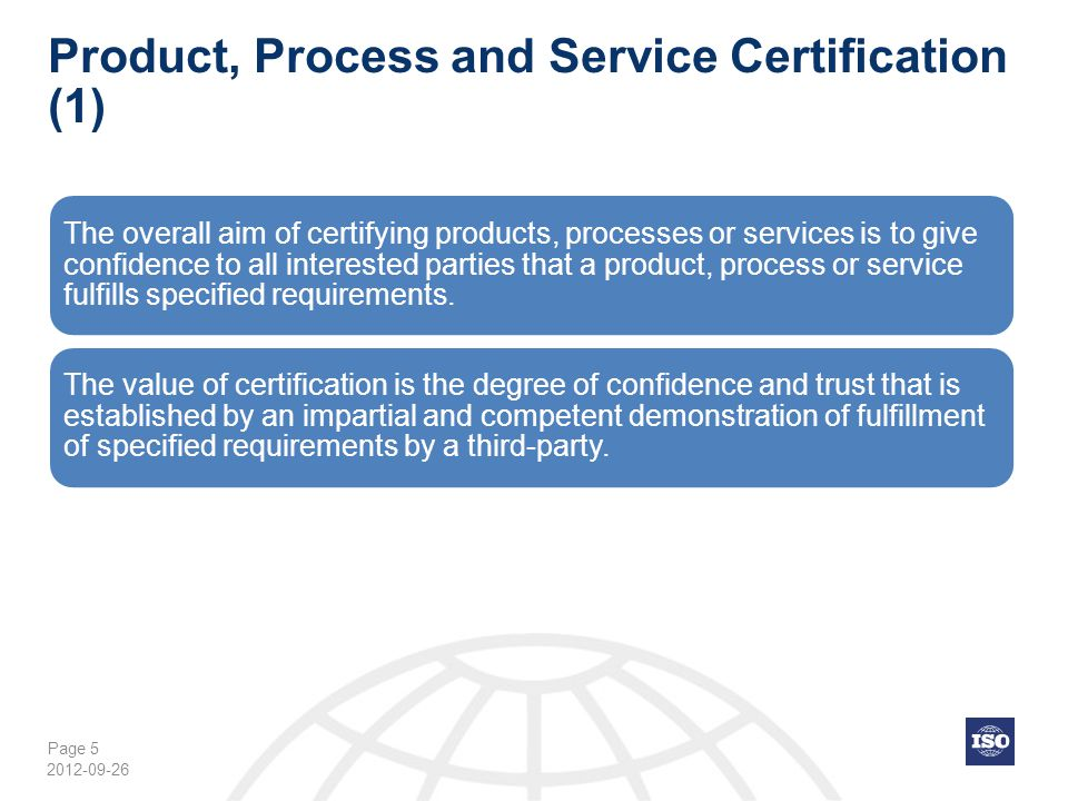 Product, Process and Service Certification (1)