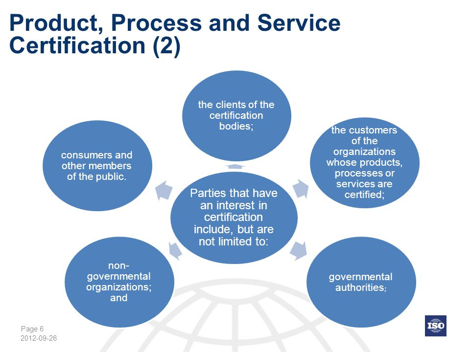 Product, Process and Service Certification (2)