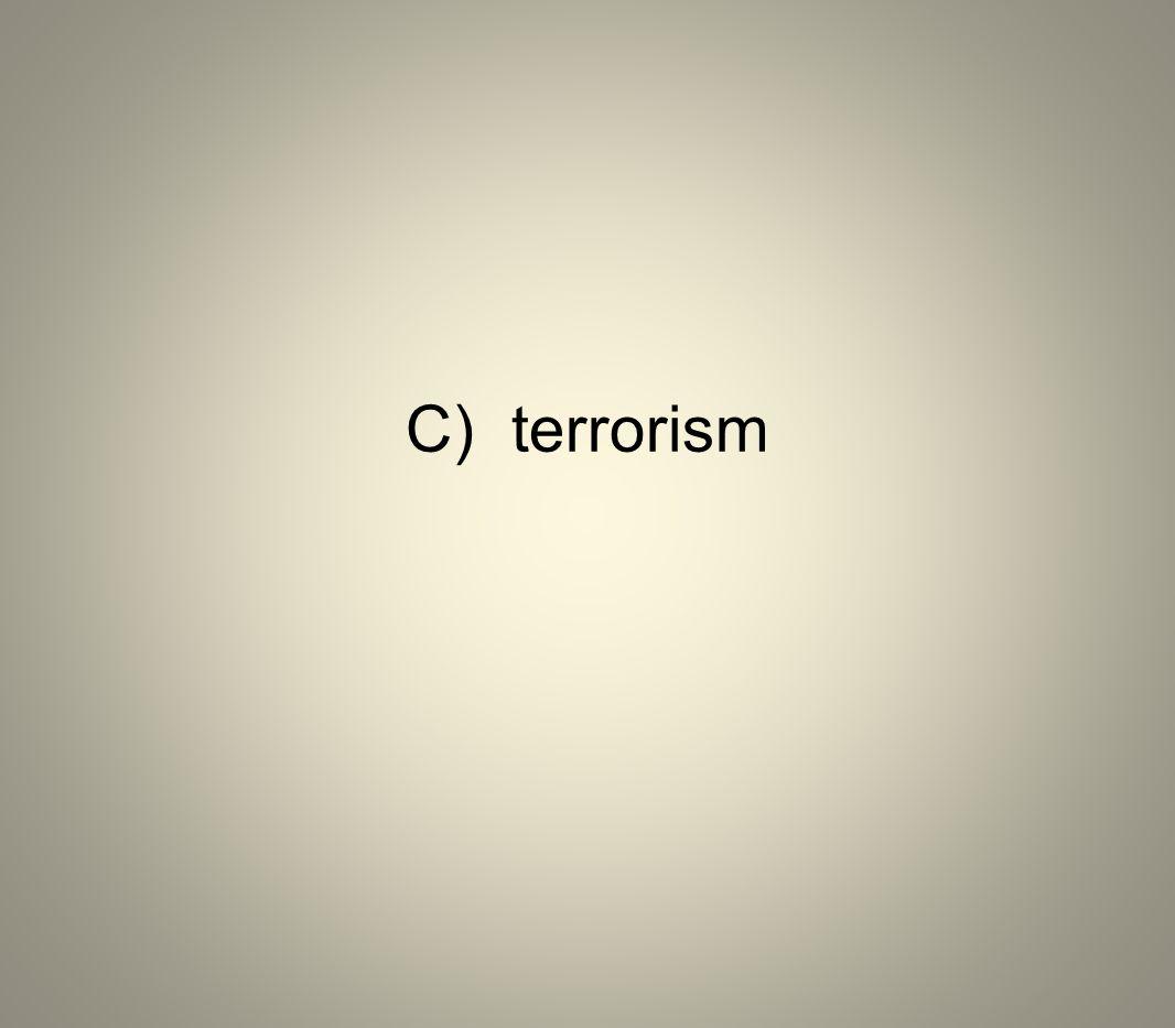 C) terrorism
