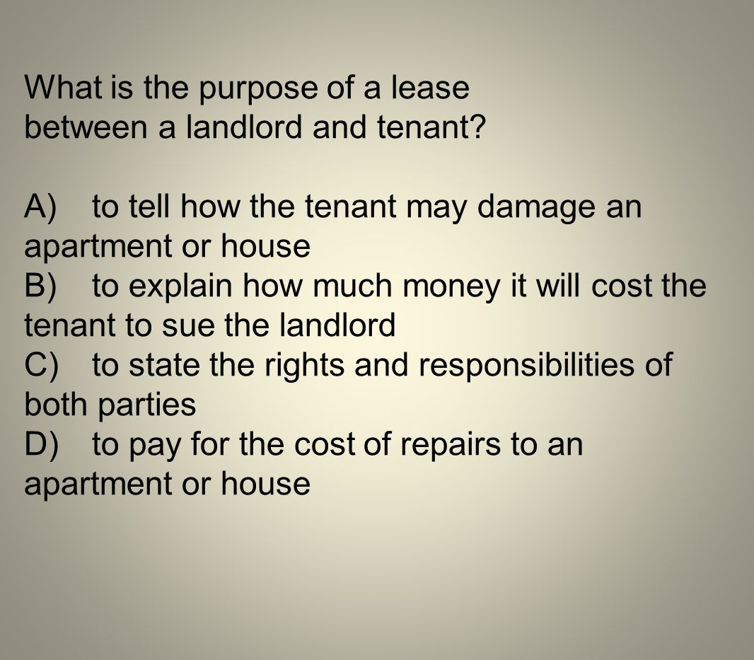 What is the purpose of a lease