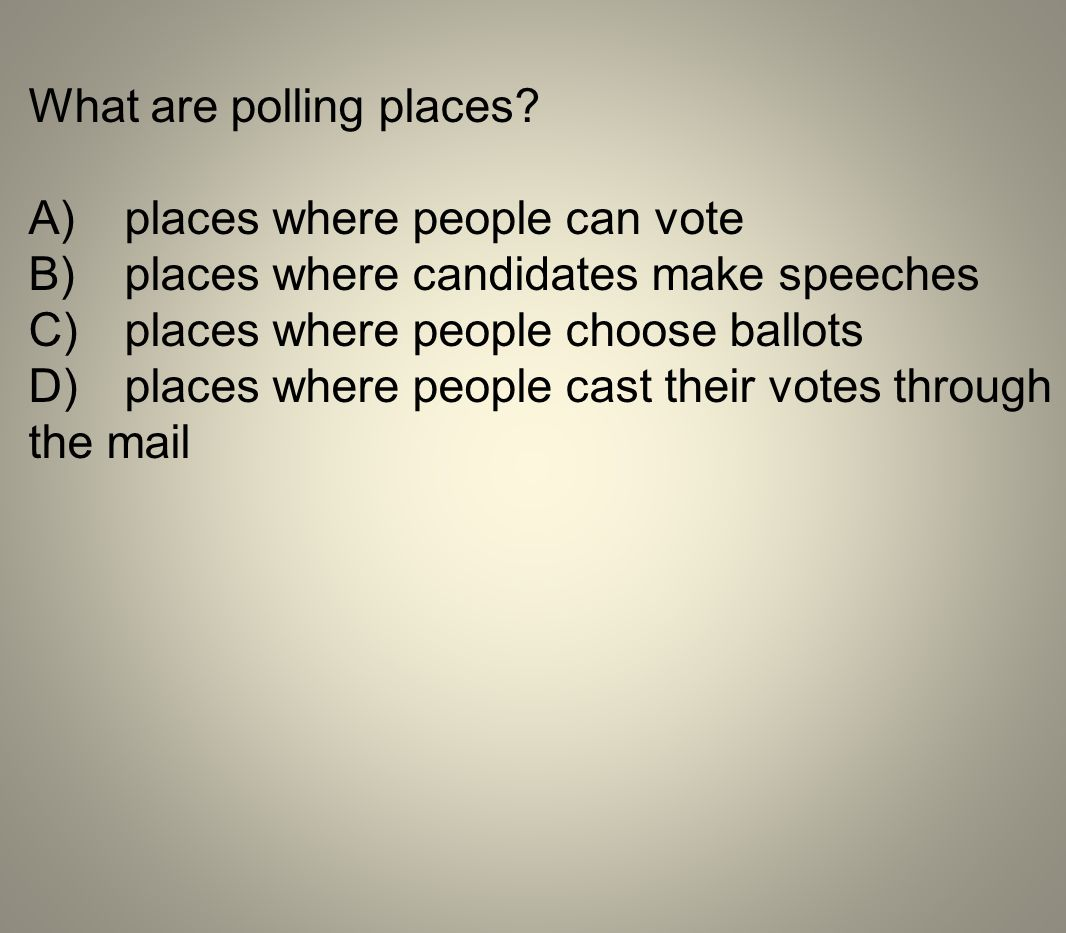 What are polling places