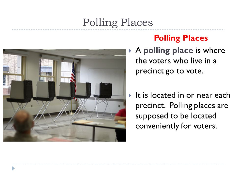 Polling Places Polling Places