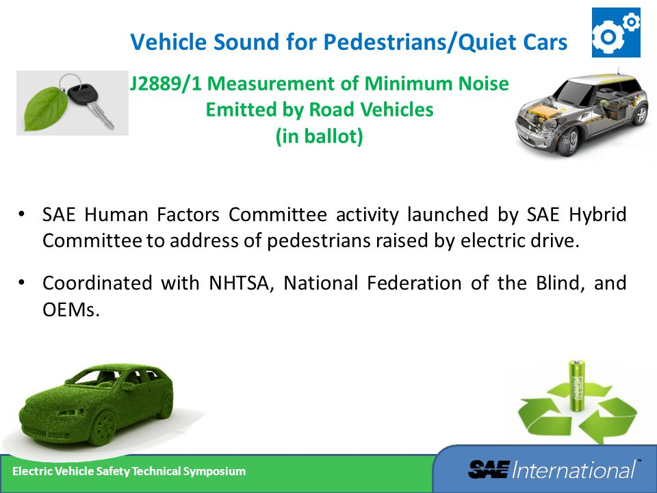 Vehicle Sound for Pedestrians/Quiet Cars