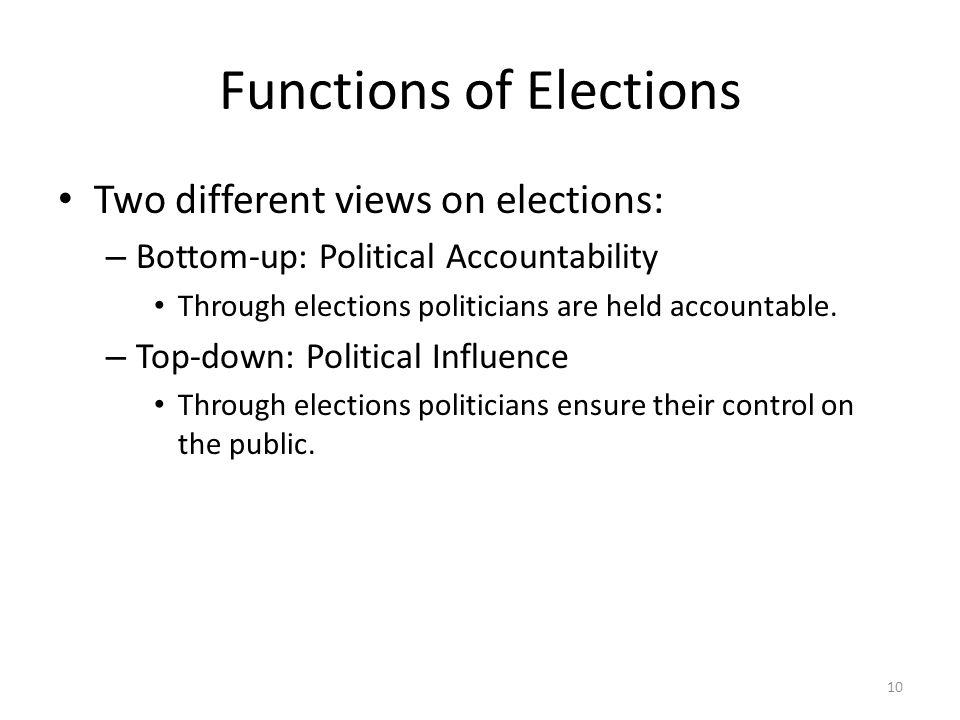 Functions of Elections