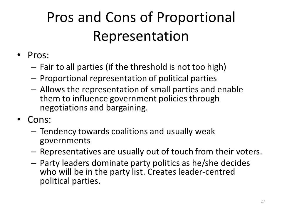the advantages and disadvantages of political party In addition to the advantages attached to pr systems their identification with any political party or on the advantages and disadvantages of.