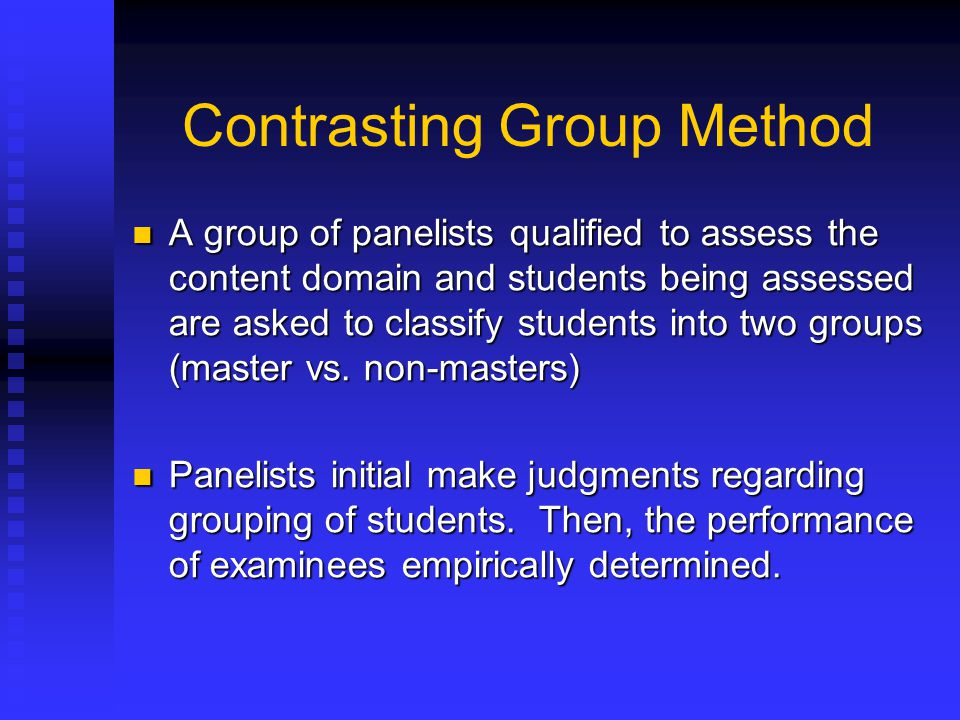 Contrasting Group Method