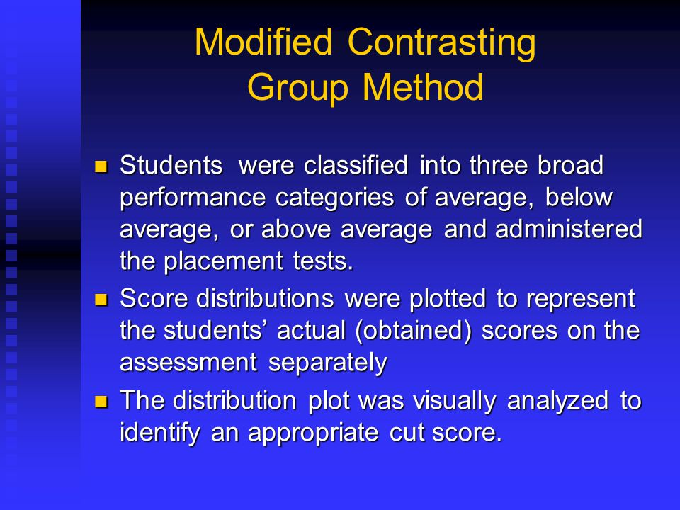 Modified Contrasting Group Method
