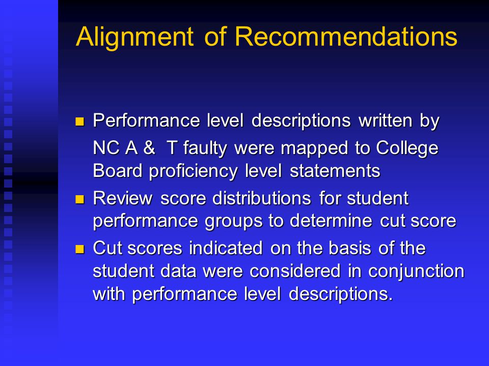 Alignment of Recommendations
