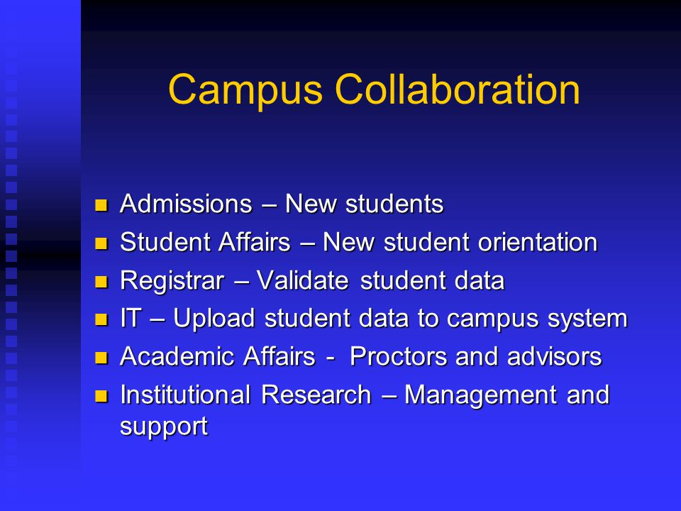 Campus Collaboration Admissions – New students