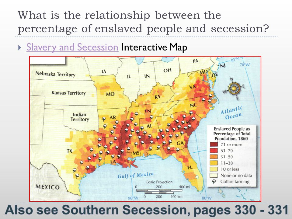 Also see Southern Secession, pages 330 - 331