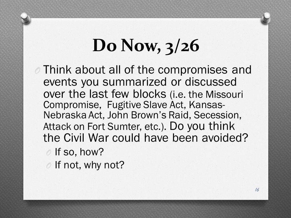 Do Now, 3/26