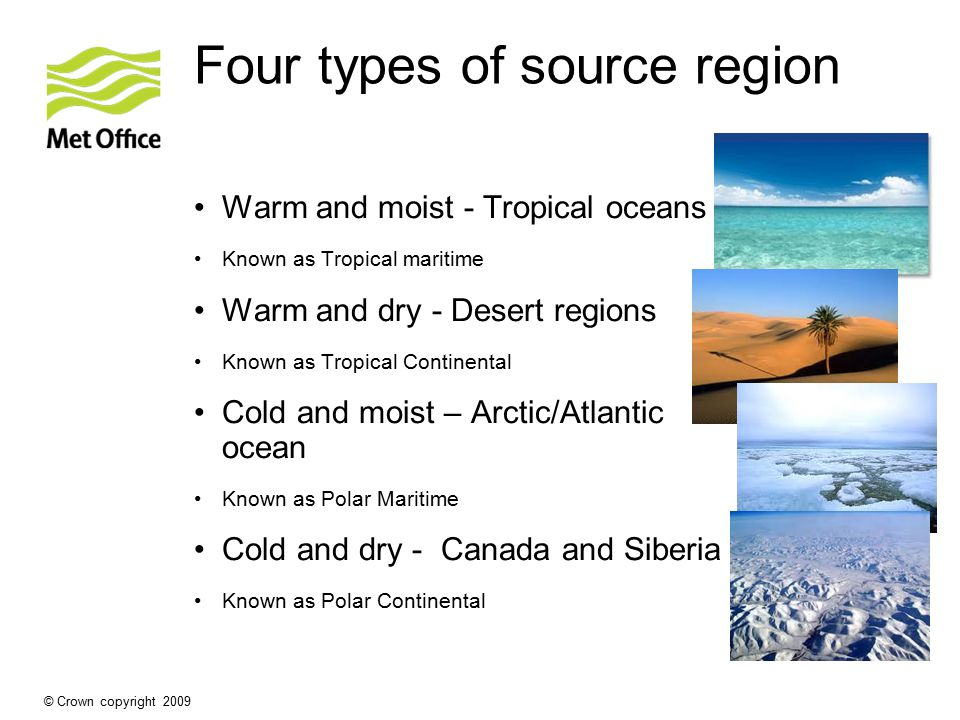 Four types of source region