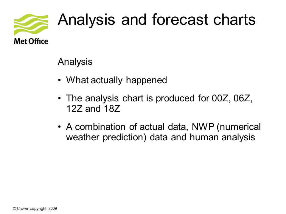 Analysis and forecast charts