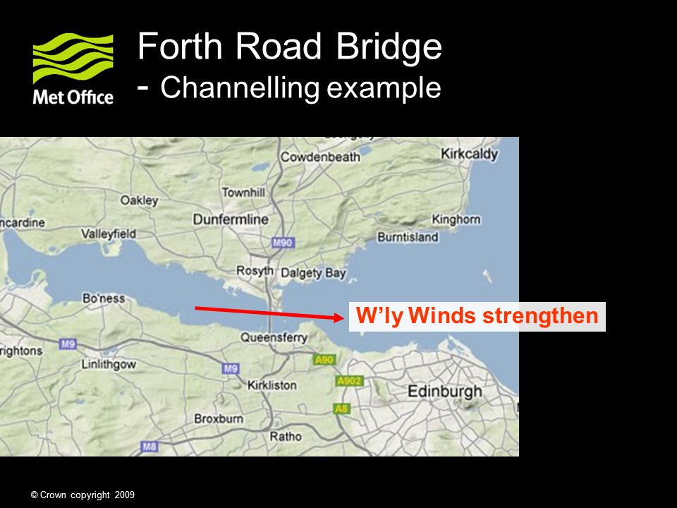 Forth Road Bridge - Channelling example