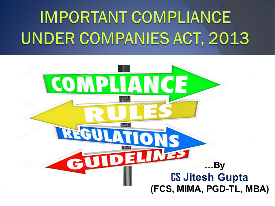 ImPORTANT Compliance under Companies Act, 2013