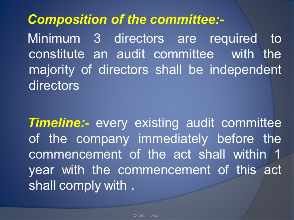 Composition of the committee:-