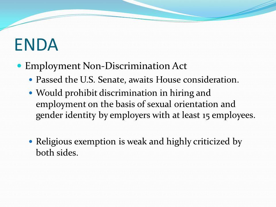 ENDA Employment Non-Discrimination Act