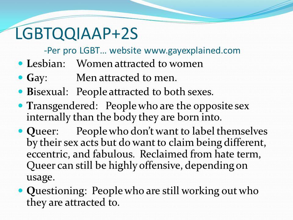 LGBTQQIAAP+2S -Per pro LGBT… website www.gayexplained.com