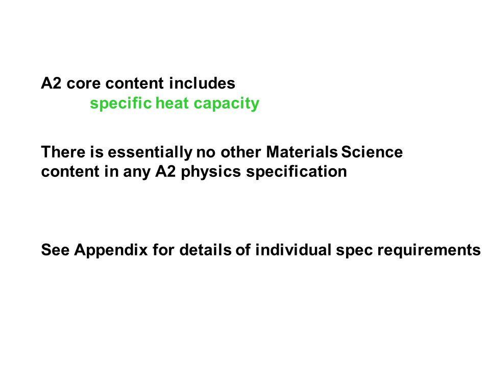A2 core content includes