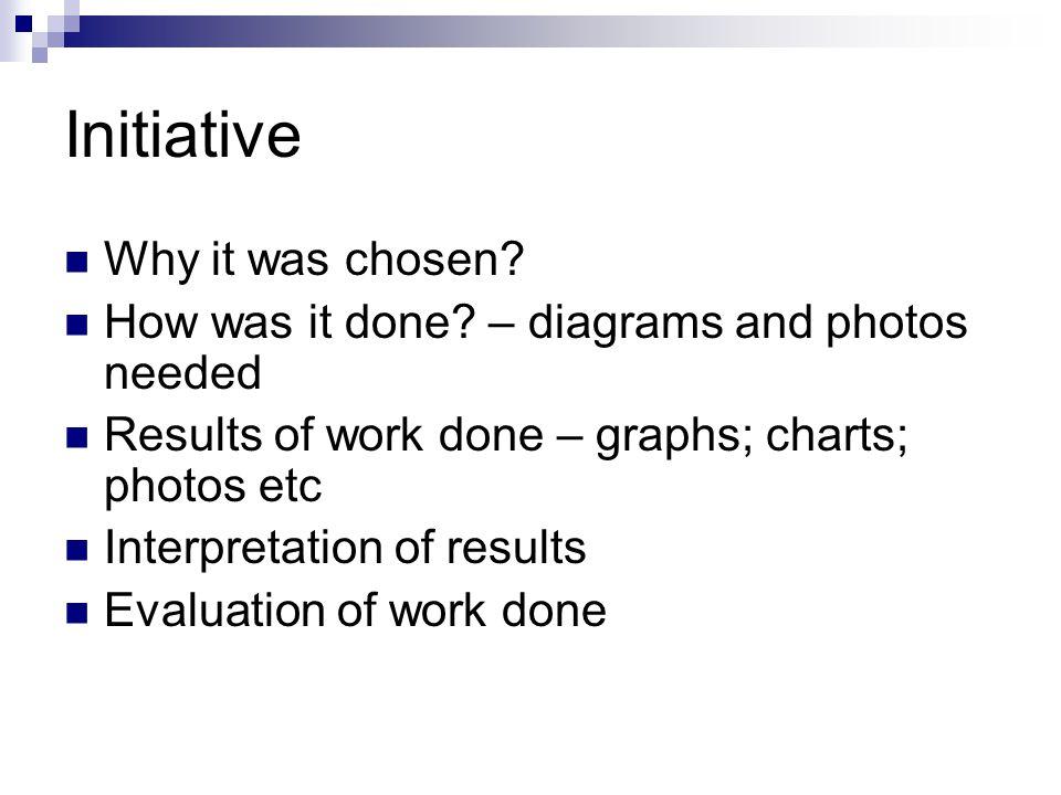 Initiative Why it was chosen