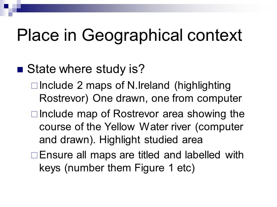 Place in Geographical context