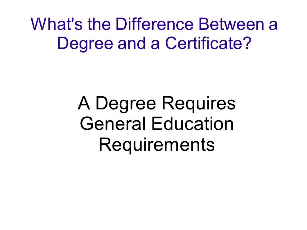 What s the Difference Between a Degree and a Certificate