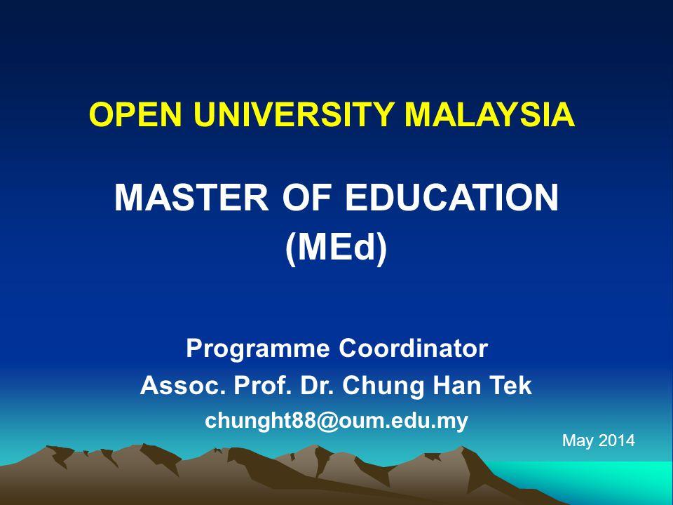 MASTER OF EDUCATION (MEd)