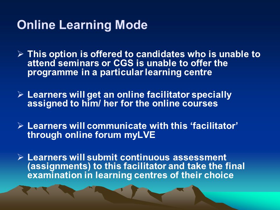 Online Learning Mode