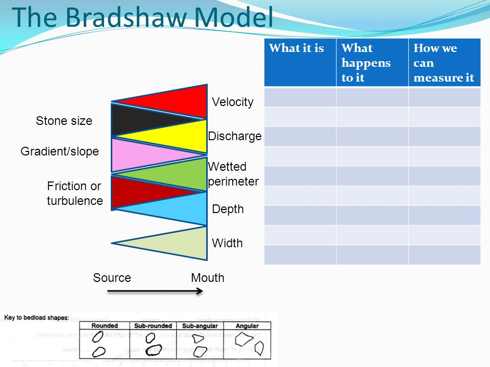 The Bradshaw Model What it is What happens to it How we can measure it