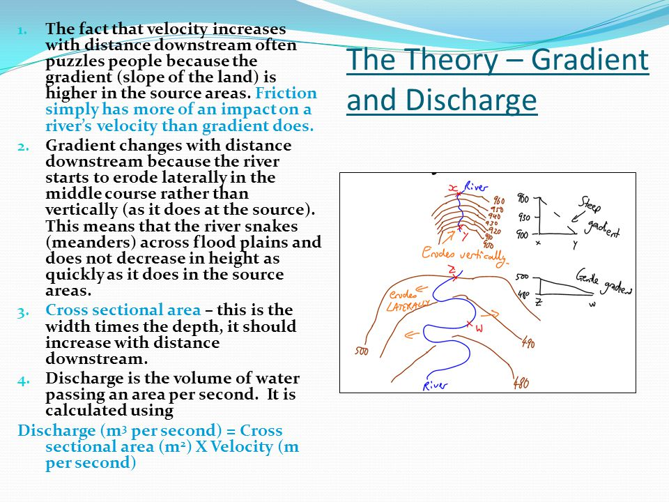 The Theory – Gradient and Discharge