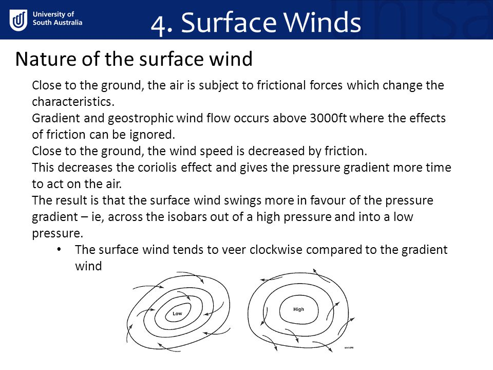 4. Surface Winds Nature of the surface wind