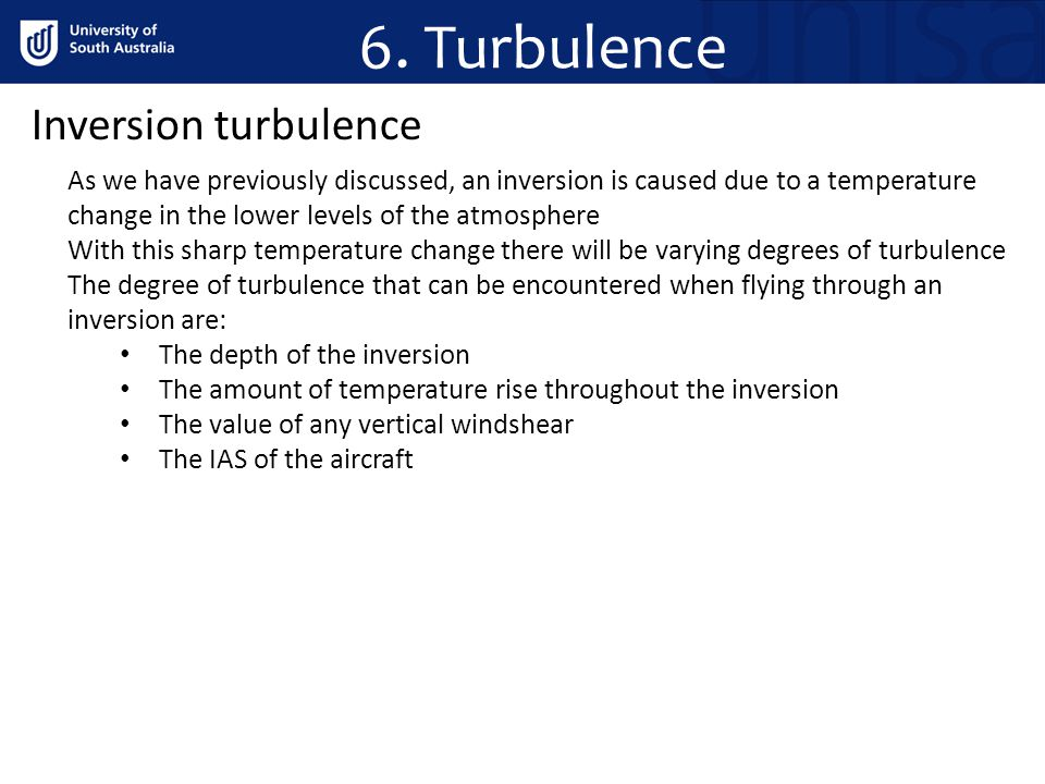 6. Turbulence Inversion turbulence