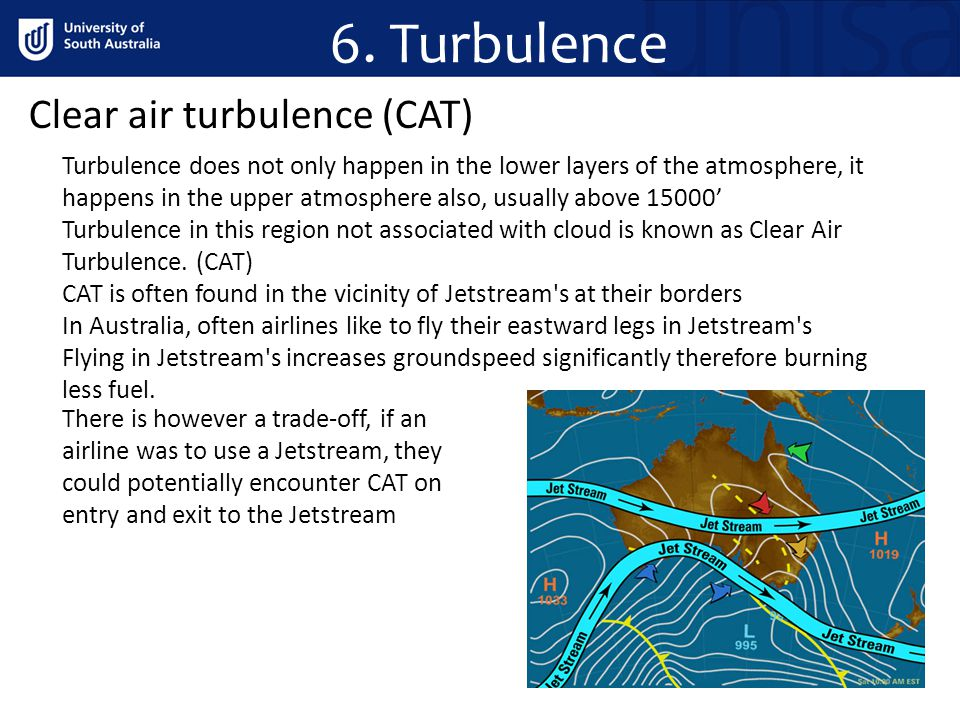 6. Turbulence Clear air turbulence (CAT)