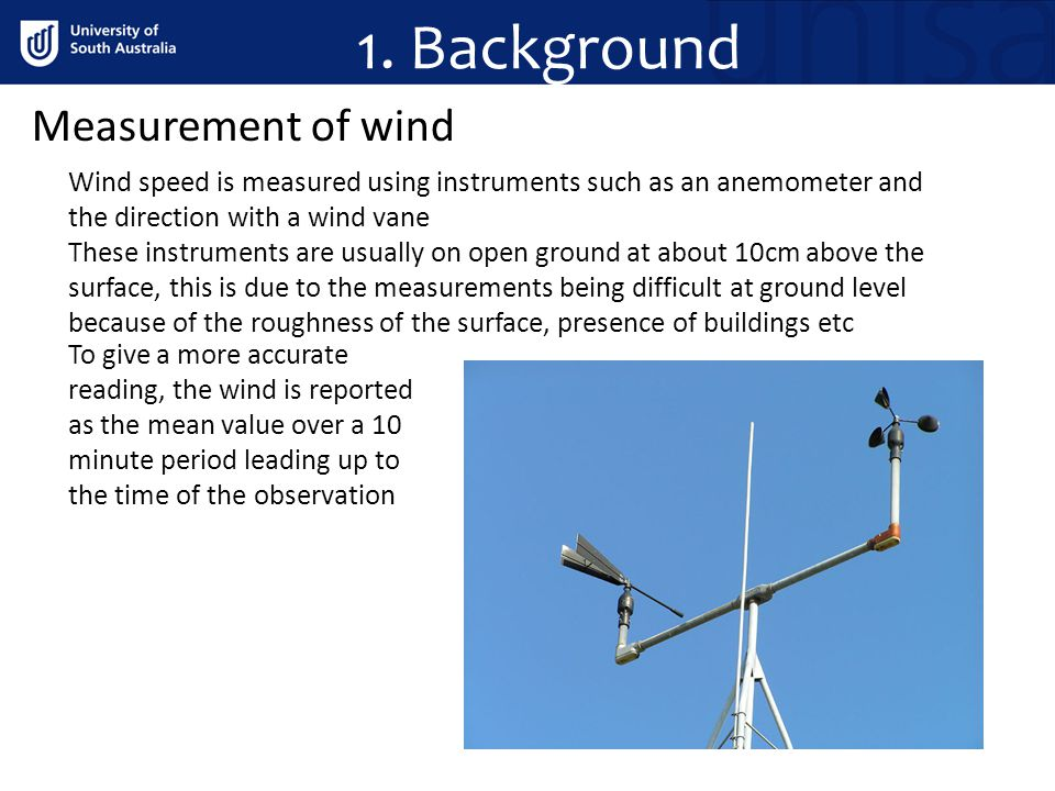 1. Background Measurement of wind