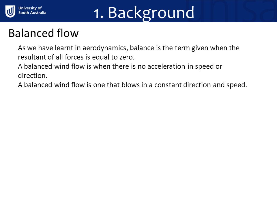 1. Background Balanced flow