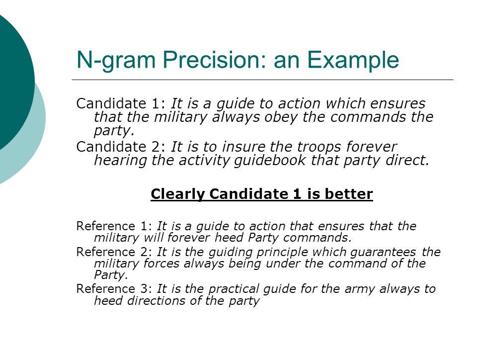 N-gram Precision: an Example