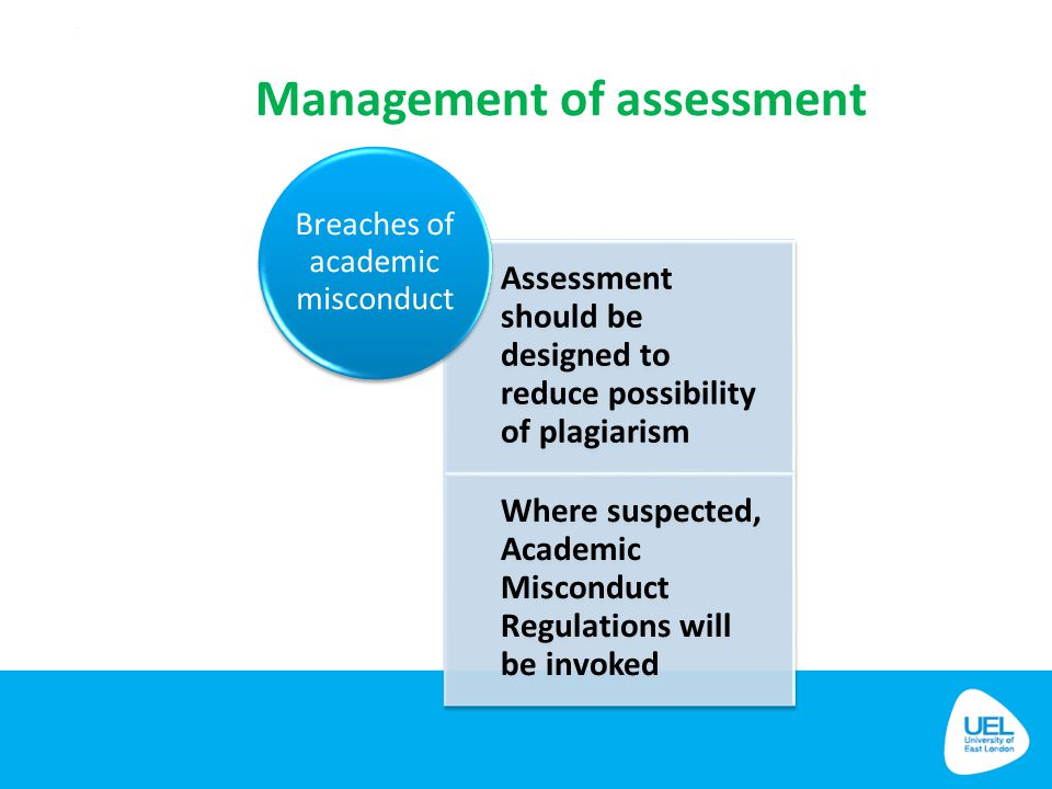Management of assessment