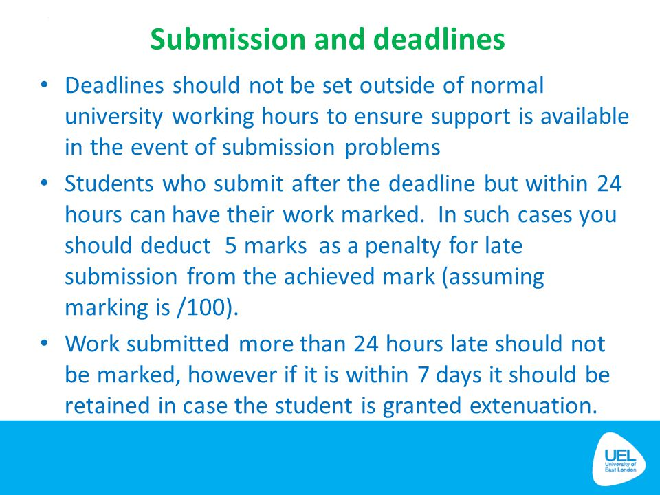 Submission and deadlines