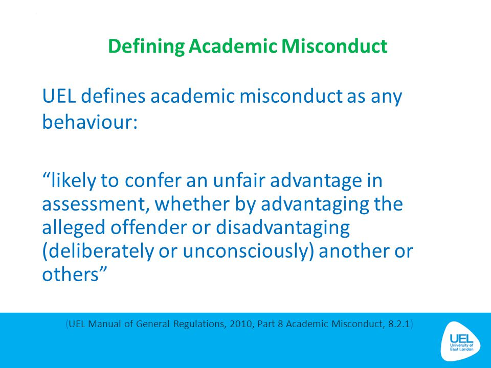 Defining Academic Misconduct